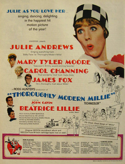 1967 Thoroughly Modern Millie Movie Ad