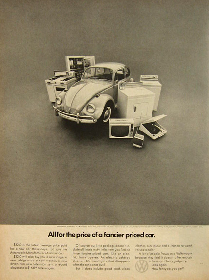 1967 VW Volkswagen Beetle Ad ~ New Appliances