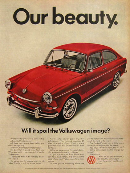 1967 VW Volkswagen Fastback Ad ~ Our Beauty
