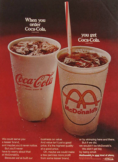 advertising coca cola and mcdonalds in russia May 8th 1886 coca cola was created by john s  and there was also financial crisis in russia which hit coca cola  in marketing and advertising.