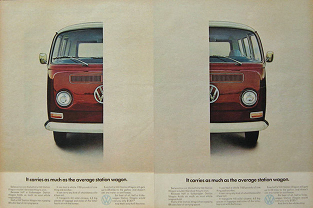 1968 Vw Volkswagen Bus Ad Half The Story Classic