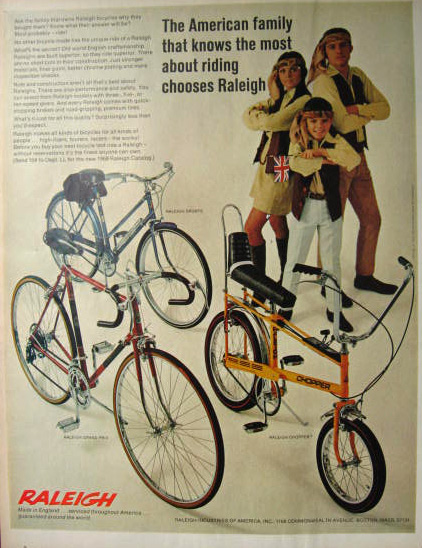 1969 Raleigh Chopper, Grand Prix Bicycle Vintage Ad
