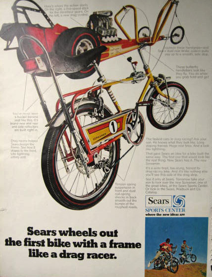 1969 Sears Screamer 1 Vintage Bicycle Ad