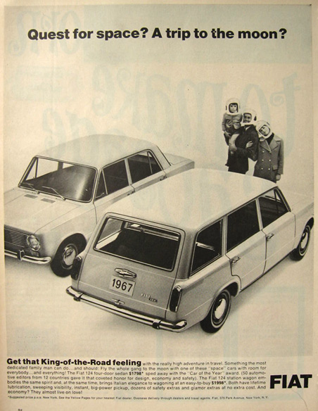 1967 Fiat 124 Sedan and Wagon Ad