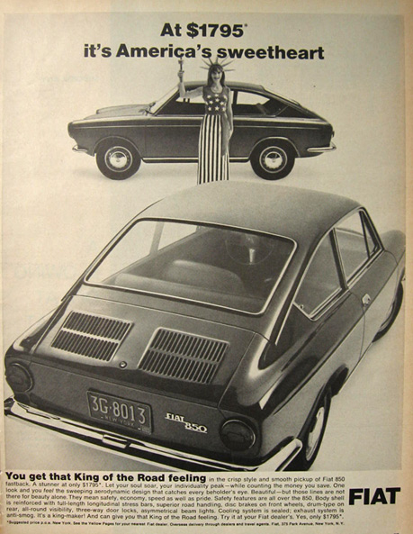 1968 Fiat 850 Ad~ America's Sweetheart