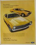 1971 Ford Maverick Ad ~ The Simple Machine
