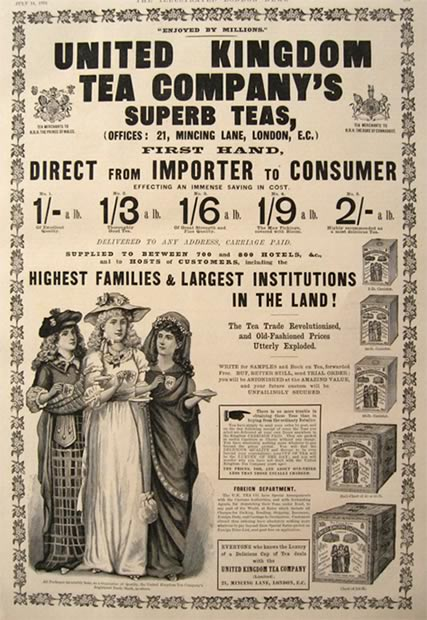 1894 United Kingdom Tea Company Ad