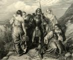 Christian in Valley of Humiliation ~ Antique Print