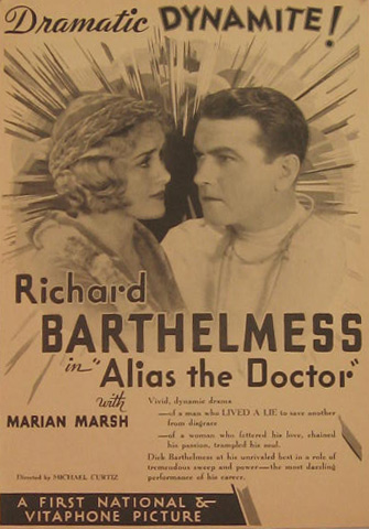 Alias The Doctor Richard Barthelmess 1932 Movie Ad