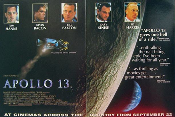 Apollo 13, Tom Hanks 1995 Vintage Movie Ad