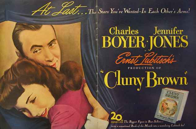 Cluny Brown, Charles Boyer 1946 Movie Ad