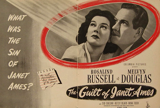 The Guilt of Janet Ames, Rosalind Russell 1947 Movie Ad