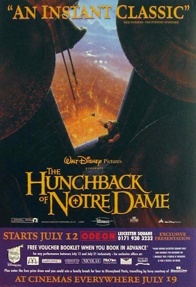 Disney's Hunchback of Notre Dame 1996 Movie Ad