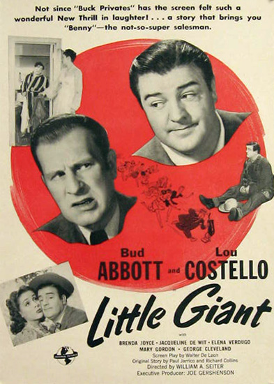Little Giant Abbott & Costello 1946 Vintage Movie Ad