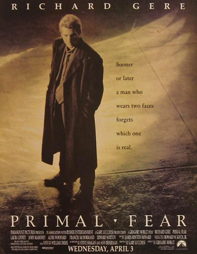 Primal Fear Richard Gere 1996 Vintage Movie Ad