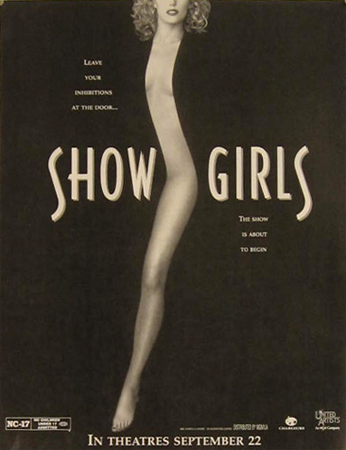 Showgirls Elizabeth Berkley 1995 Vintage Movie Ad