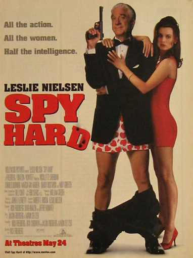 Spy Hard Leslie Nielsen 1996 Vintage Movie Ad