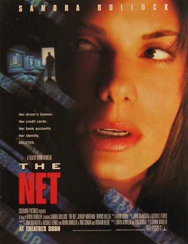 The Net ~ Sandra Bullock ~ 1995 Vintage Movie Ad