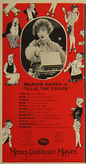 Tillie, the Toiler Marion Davies 1927 Vintage Movie Ad