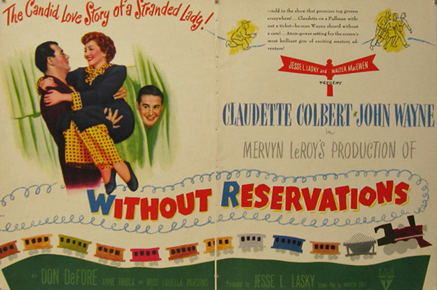 Without Reservations John Wayne 1946 Movie Ad