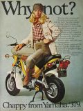 1976 Vintage Yamaha Chappy Motorcycle Ad ~ Why Not?