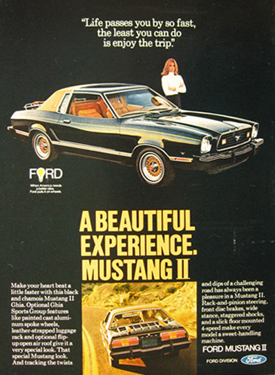 1977 Ford Mustang II Ghia Ad ~ A Beautiful Experience