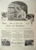 1928 Piggly Wiggly Stores Ad ~ A New Vogue in Household Buying