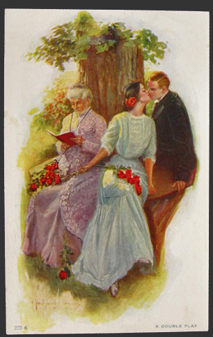 Alfred James Dewey A Double Play Postcard