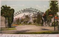 New Orleans, LA Vintage Postcard ~ Audubon Place Entrance