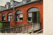 New Orleans, LA Row House Postcard