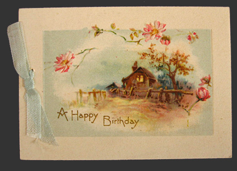 1928 Vintage Happy Birthday Card Greeting Cards