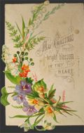 Victorian Die-Cut Christmas Greeting Card ~ Bright Blossoms