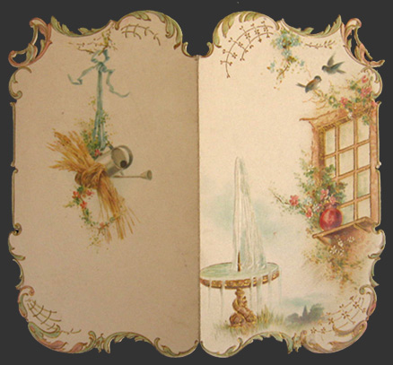 victorian die cut greeting card  happy birthday, vintage greeting, Greeting card