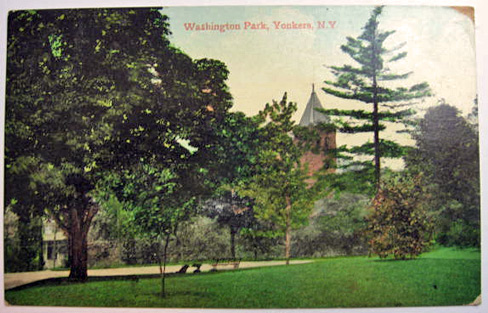 Yonkers, NY Postcard ~ Washington Park