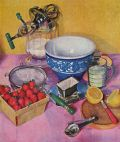 1932 Marion Powers Print ~ Strawberry Mousse Recipe