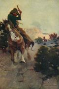 1906 N.C. Wyeth Antique Cowboy Print