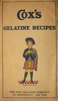 1920 Cox's Gelatine Recipe Booklet