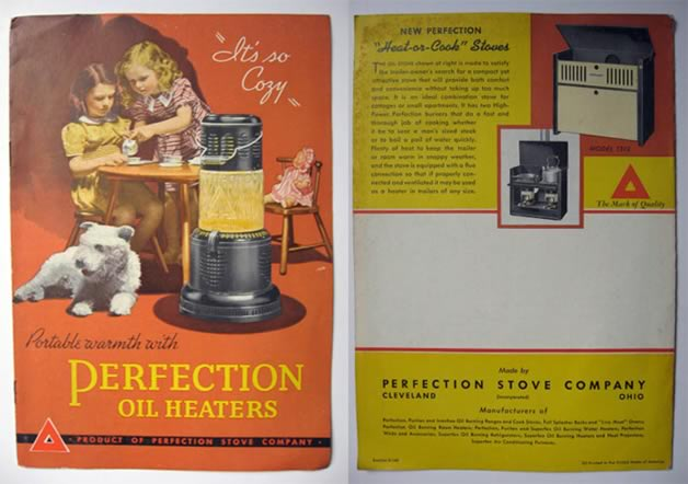 Perfection Oil Heaters ~ Vintage Brochure