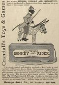 1879 Crandall's Donkey & Rider Mechanical Toy Ad