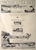 1916 How the Farm Folk Ran Away ~ A Children's Story by Grace May North