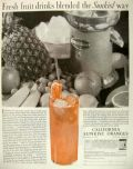 1929 Sunkist Oranges Ad ~ Vintage Gilbert Juicer Photo