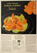 1929 Sunkist Oranges Ad ~ Fruit Salad