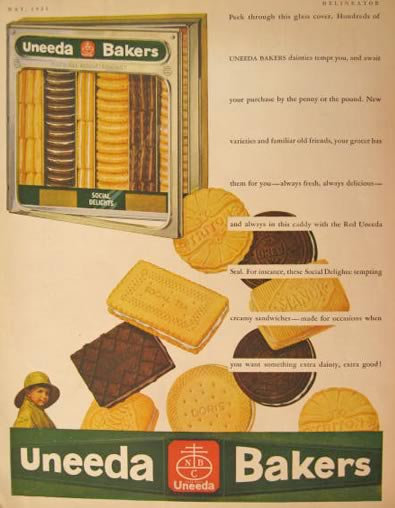 1931 Nabisco Uneeda Cookie Ad ~ Great Old Packaging