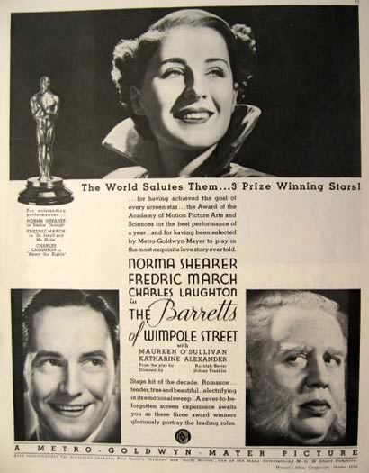 1934 Barretts of Wimpole Street Movie Ad ~ Norma Shearer