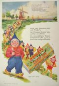 1928 Wrigley's Double Mint Gum Ad ~ Mother Goose Up-To-Date ~ Miller of Dee